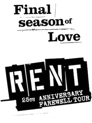 Rent, State Theatre, New Brunswick